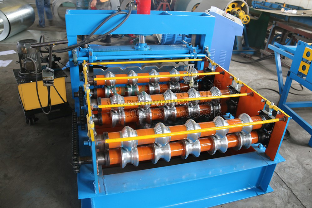 Auto Crimping Melengkung Roll Forming Machine