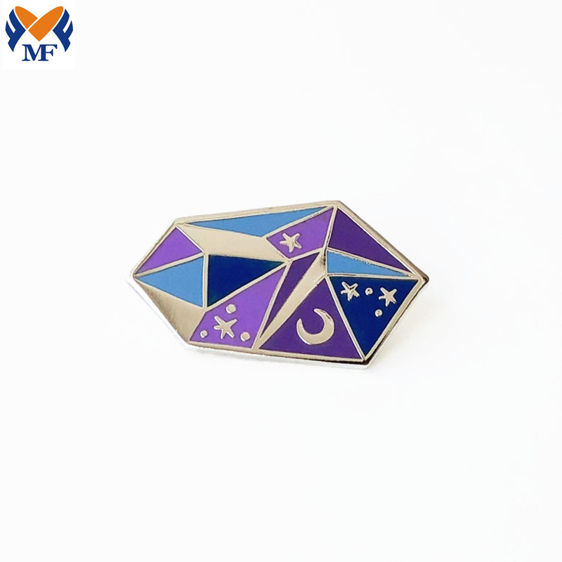 Crystal Enamel Pin Badge