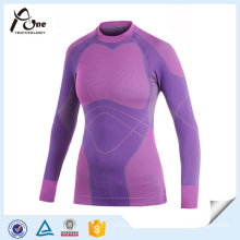 Polyester Women Sports Sexy Seamless Thermal Underwear
