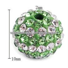 Atacado jóia da moda Alloy + diamante shamballa contas HB-1024