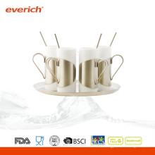 Niedrige Preisqualität kundenspezifische keramische Kaffeetasse mit Löffel