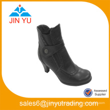 High Heel Ankle Length Chunky Heel Ankle Boots