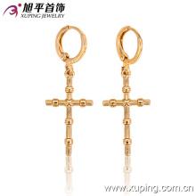 26997 мода простой крест металлический сплав ювелирные изделия серьги в 18k позолоченный