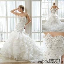 2013 Nuevo diseño y vestidos de boda pesados del weddingdress de la colmena