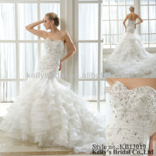 2013 New design and heavy ruffle weddingdress wedding gowns