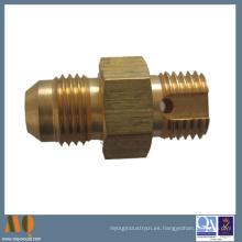 Piezas de cobre amarillo dadas vuelta CNC de precisión modificadas para requisitos particulares