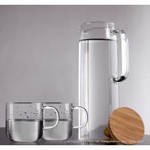 Hoher Borosilikatglas Kühler Wassertopf Großer Volumenkrug