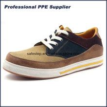 Zapato de seguridad ligera modelo Ss-060 del deporte del cuero genuino
