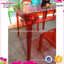 HOT SALE! New Design Knock Down Plastic dining table
