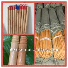 Verniz de madeira lacado / em Venda Preço baixo vernizado Vassoura madeira alça / madeira envernizada