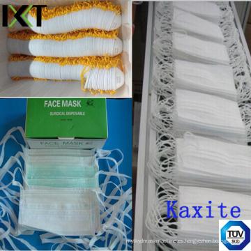Máscara desechable no tejida médica del cono de la corbata de lazo tipo Kxt-FM20