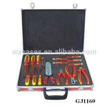 caja de herramientas portátil aluminio con inserto de espuma personalizadas en el caso inferior por mayor