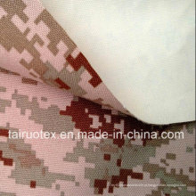 Taslon impresso camuflagem com branco revestido para uniforme militar