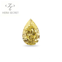 ForeverFlame  fancy yellow 10ct Pear Cut big diamond CVD CZ color Moissanite