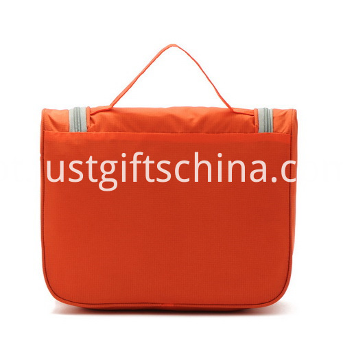 Promotional Custom Polyester Hanging Cosmetic Bags W Embroidered Logo