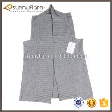 Женская мода чистая трикотажные кашемировый свитер жилет