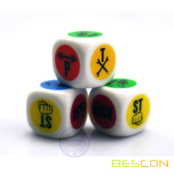Printing Personalized Dice 20MM in Round Corner