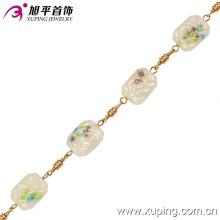 42491 venda Quente belas senhoras jóias retângulo em forma de 18 k colar banhado a ouro