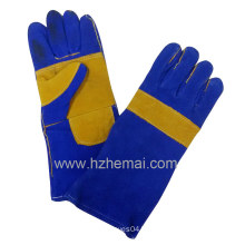 Reinforced Double Palm Split Leather Gloves Welding Gloves Working Glove