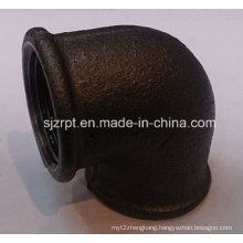 "1"" Malleable Iron Pipe Fittings Beaded Black Elbow Without Ribs"