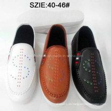 Zapatos de cuero ocasionales de la última resbalón de los hombres de la última moda (MP16721-24)