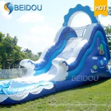 Caliente venta duradera gigante adulto inflable piscina arco iris diapositiva
