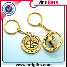 Artigifts promotion rotatif en métal porte-clé personnalisé