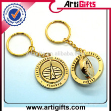 Artigifts promotion rotatable metal keychain custom