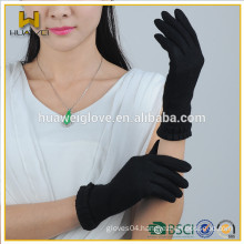 2015 Fashion Black 100% Wool Gloves TouchScreen for Spring and Autumn
