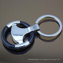 Neuer Lenkrad-Form-Metallauto-Schlüsselring für Förderung (F1003A)