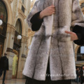 Winter Reversible Long Fur Cross Lady Coat