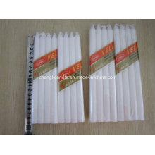 8PCS Pack Dripless Household vela branca simples