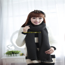New Arrival Fashion Girl Winter Neck Warmer Écharpe tricotée Snood avec boutons