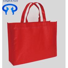 Custom non-woven gift green handbag shopping bag.