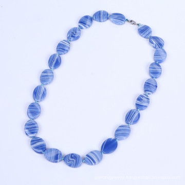 New Products Blue Banded Agate Jewelry