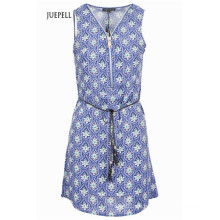Shift Tunika Damen Kleid mit übergroßem Reißverschluss