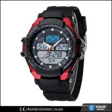 3 атм водостойкие часы мужчины, двойное движение цифровые часы