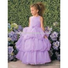 Vestido de partido púrpura de las pequeñas princesas