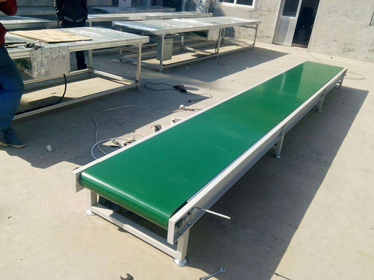 Industrial idler roller horizontal light belt conveyor machine