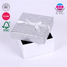 caja de regalo de papel de cartón bonita personalizada con tapa