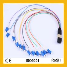 Perte élevée de réflexion élevée de densité de fibre avec la corde de correction optique de fibre d'APC MTP / MPO