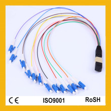 Perda de reflexão alta da densidade alta da fibra com cabo de remendo da fibra óptica do APC MTP / MPO