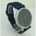 Luxury cutom oem geneve quartz watch men wrist with leather strap