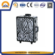 Чехол для косметики на тележке Zebra из алюминия (HB-3508)