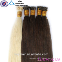 Gros blanc cheveux blancs double dessin Remy 1g bâton pointe des extensions de cheveux