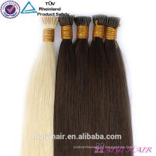Оптовые европейские белые волосы дважды обращается Реми 1Г Stick Совет выдвижения волос