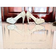 Prix compétitifs femme argent mariée chaussures de mariée dernières talons hauts WS044
