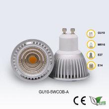 GU10 5W 85-265V Blanco COB LED Proyector