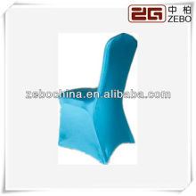 Cores de moda diferentes disponíveis personalizado por atacado turquesa capa cadeira de spandex