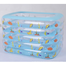 Piscina de agua cuadrada inflable de 5 capas para bebés